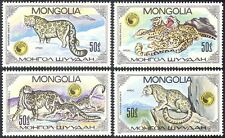 Mongolia 1985 Snow Leopards/Cats/Wildlife/Animals/Nature 4v set (b9283)