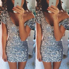 Sexy Women's Summer Bandage Bodycon Evening Party Cocktail Club Short Mini Dress