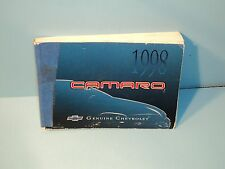 98 1998 Chevrolet Camaro owners manual