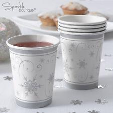 Argent flocon de neige luxe noël gobelets en papier-noël fête-gamme complète en boutique!