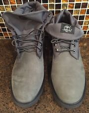 Timberland Basic Roll Top Boots Grey NB Nubuck Gray Men's 11 M NIB New TB0A11F9