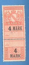 GERMANY BADEN REVENUE STAMP 4 MARK 2268