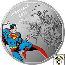 2015 $10 Fine Silver Coin-DC Comics (TM) Originals Gauntlet .9999 *No Tax(17451)