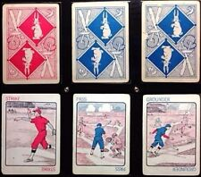 1922 Rare OLSEN'S Historic (3) Antique Baseball Playing Cards Archival Cased Set