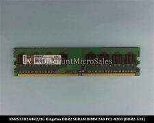 Kingston KVR533D2N4K2/1G DDR2 1GB 2x512MB PC2-4200 Non ECC 533Mhz RAM Memor