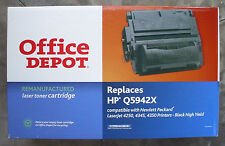 Office Depot HP TONER CARTRIDGE LaserJet 4250 4345 4350 Black High Yield NEW