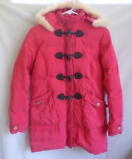Momoco Kids Down Coat Jacket Girls Fur Trim Pink Removeable Hood