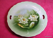 """Three Crown China Hand Painted (Lily Pads) 9 1/2"""" CAKE PLATE"""