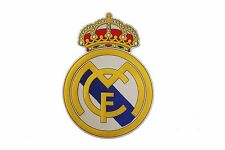 "REAL MADRID SOCCER  IRON-ON PATCH CREST BADGE EXTRA LARGE SIZE 6 3/8"" X 8 7/8"""