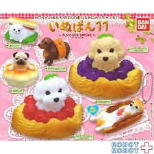 INUPAN11 Dog with Breads mascot swing keychain x6 pcs Set BANDAI Toy poodle