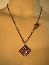 Liz Palacios Swarovski Crystal Red Designer's Necklace Chain
