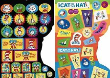 Dr Seuss The Cat in the Hat Thing One Thing Two 2 Sheets Stickers!