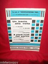 """N. HEFTI dal Film """"A piedi nudi nel Parco"""" + ORLANDI Un bacio OST Spartiti 1968"""