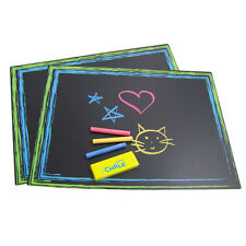 Sassafras Chalkboard Placemats Dinner Table Drawing Reusable Restaurant Activity