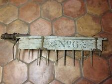 Antique 1890's Horse Drawn PTO Tractor Spike Tooth Harrow Harvest Plow Tool