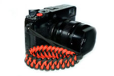 """Red """"Shark"""" Paracord Wrist Strap for DSLR Compact Cameras Fuji Canon Sony X-Pro2"""
