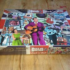 Falcon Deluxe Best Of British 3 1000 Piece Jigsaw Puzzle ROCK N ROLL Great Gift