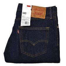 Levis 505 Jeans Straight Leg Zipper Fly Original Mens Denim 30 32 33 34 36 38 40