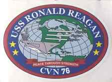 "USS RONALD REAGAN CVN 76 Decal 4"" x 4"" US Navy"