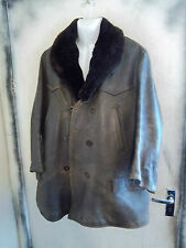 VINTAGE anni'30 ww2 francese MACKINAW resistenza horshide in Pelle Giacca Taglia L/XL