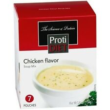 ProtiDiet - Chicken Flavor High Protein Diet Soup Mix Ideal Weight Loss (7/Box)