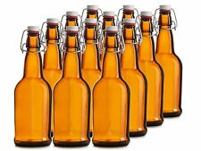 Chef's Star 12 Pack of 16 oz EASY CAP Beer Bottles AMBER