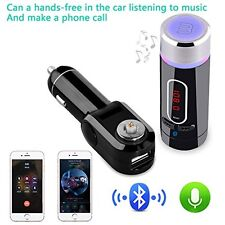 Hands-Free Car Kit Wireless Bluetooth FM Transmitter MP3 Player SD USB + Remote