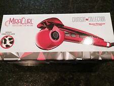BABYLISS Titanium MiraCurl Styling Tool Curl Machine - Crimson W/ Leopard Case