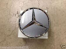 Genuine OEM Mercedes Benz Himalaya Grey with Chrome Star Wheel Insert Cap
