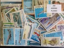 200 Different Planes/Aircraft/Aviation on Stamps Collection