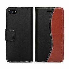 Apple iPhone 7 Plus Wallet Case PU Leather Cover S-Line with Stand card holder
