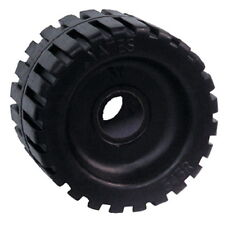 3 Inch Wide x 4-3/8 Inch OD Boat Trailer Black Rubber Ribbed Wobble Roller