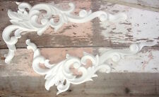 SHABBY n CHIC FURNITURE APPLIQUES * LARGE ARCHITECTURAL CORNERS (2) * PAINTABLE