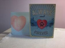 Tree-Free - Pet Sympathy Card - A Heart w/a paw print on the cover