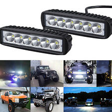 18W Spot Cree LED Light Work Bar Lamp Driving Fog Offroad SUV 4WD Car Boat Truck
