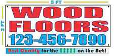 WOOD FLOORS w CUSTOM PHONE Banner Sign NEW Larger Size Best Quality for the $