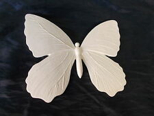 LARGE BUTTER FLY DECORATIVE WALL ART WHITE RESIN