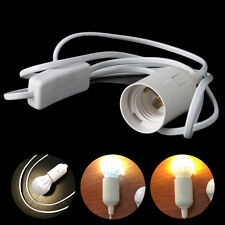 E27 Light Bulb Lamp Socket To US AC Plug Power Cord Adapter On Off Switch