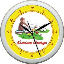 Original Curious George Wall Clock Nursery Childrens Room Yellow Green Red Gift