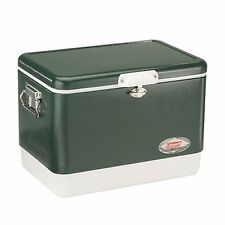 Coleman 54 Quart Steel-Belted Cooler 85 Can Capacity Rust-Resistant | 6154B