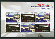 Micronesia 2006 MNH Concorde First Supersonic Flight 6v M/S Airplanes Jet Plane