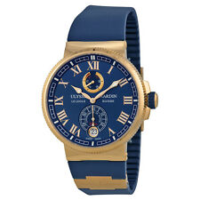 Ulysse Nardin Marine Chronometer Blue Dial 18kt Rose Gold Mens Watch