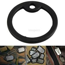 Black Silicone Rubber Dog Tag Noise Silencer Bumper Fastener Ring For Military