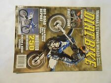 APRIL 2003 DIRT BIKE MAGAZINE,YAMAHA WR450,KTM 85SX,GAS GAS EC300,DRZ TIPS,AMA