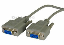 5m RS232 Cross Lead Serial Null Modem Cable DB9 Female  to Female 9 pin Crossed