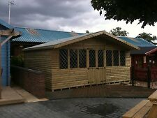 16 x 14 (4.8m x 4.2m) ULTIMATE LOG CABIN SUMMER HOUSE OFFICE BAR SHED