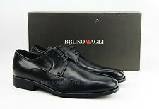 BRUNO MAGLI BLACK LACE HANDMADE SHOES 100% LEATHER ITALY NEW SIZE 9 # 31