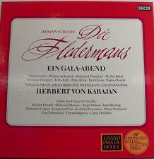"""J. STRAUSS DIE FLEDERMAUS GÜDDEN-KMENTT- KARAJAN- DECCA 3LP´S  -12"""" LP [k408]"""