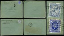 GB KG5 1933-35 AMERICAN EXPRESS PERFINS 2 1/2d DIFFERENT ISSUES to TEHERAN