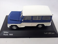 WB092 WhiteBox ModelCar Willys Rural 1968, blau / weiss 1:43 Metall Limited OVP